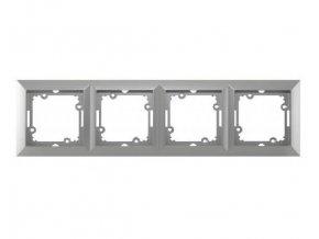 rámeček čtyřnásobný stříbro