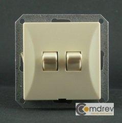 modul dvojitého retro vypínače Opál