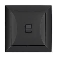 retro vypínač černý