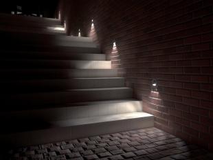 LED osvětlení na schodiště orientační
