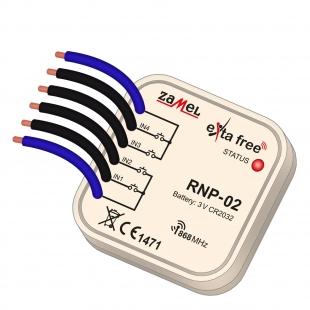 Rádiový vysílač 4-kanálový do krabic..