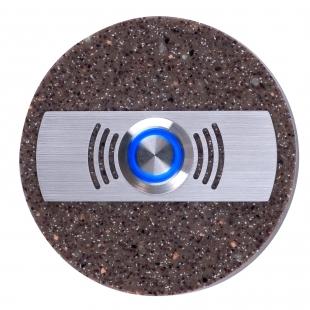 Zvonkové tlačítko kulaté - mramor