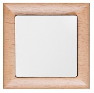 Jednopólový vypínač Prémium buk - bílá