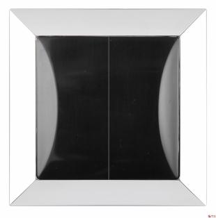 Sériový vypínač s chromovaným rámečkem