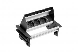 Zásuvka vestavná stolní 3x zásuvka