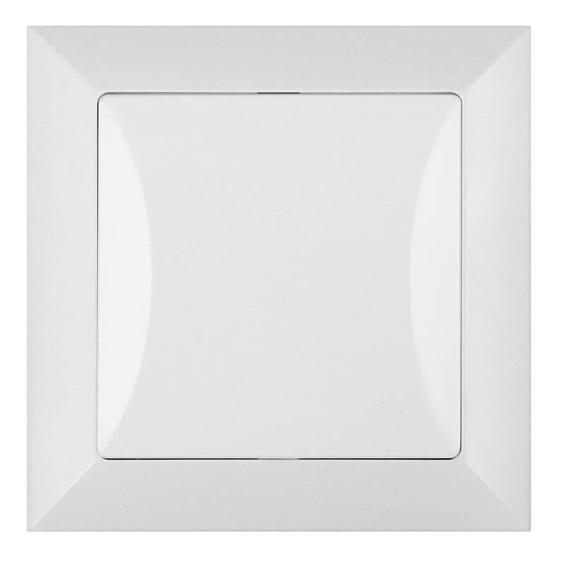 křížový vypínač Opál bílý