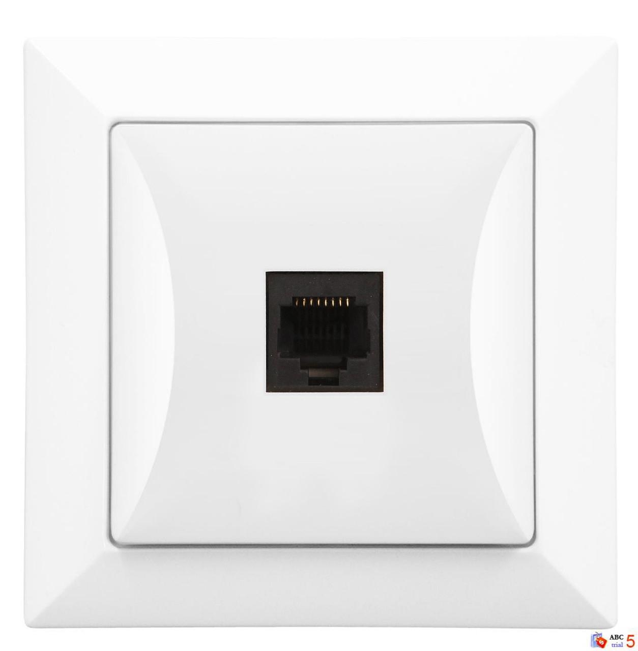 Zásuvka počítačová 8 pin, bílá