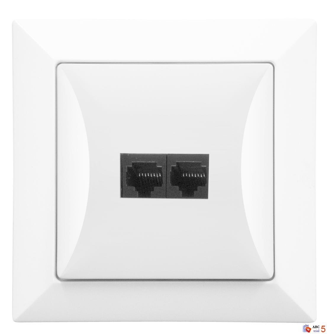 Počítačová zásuvka 2x8 pin, bílá