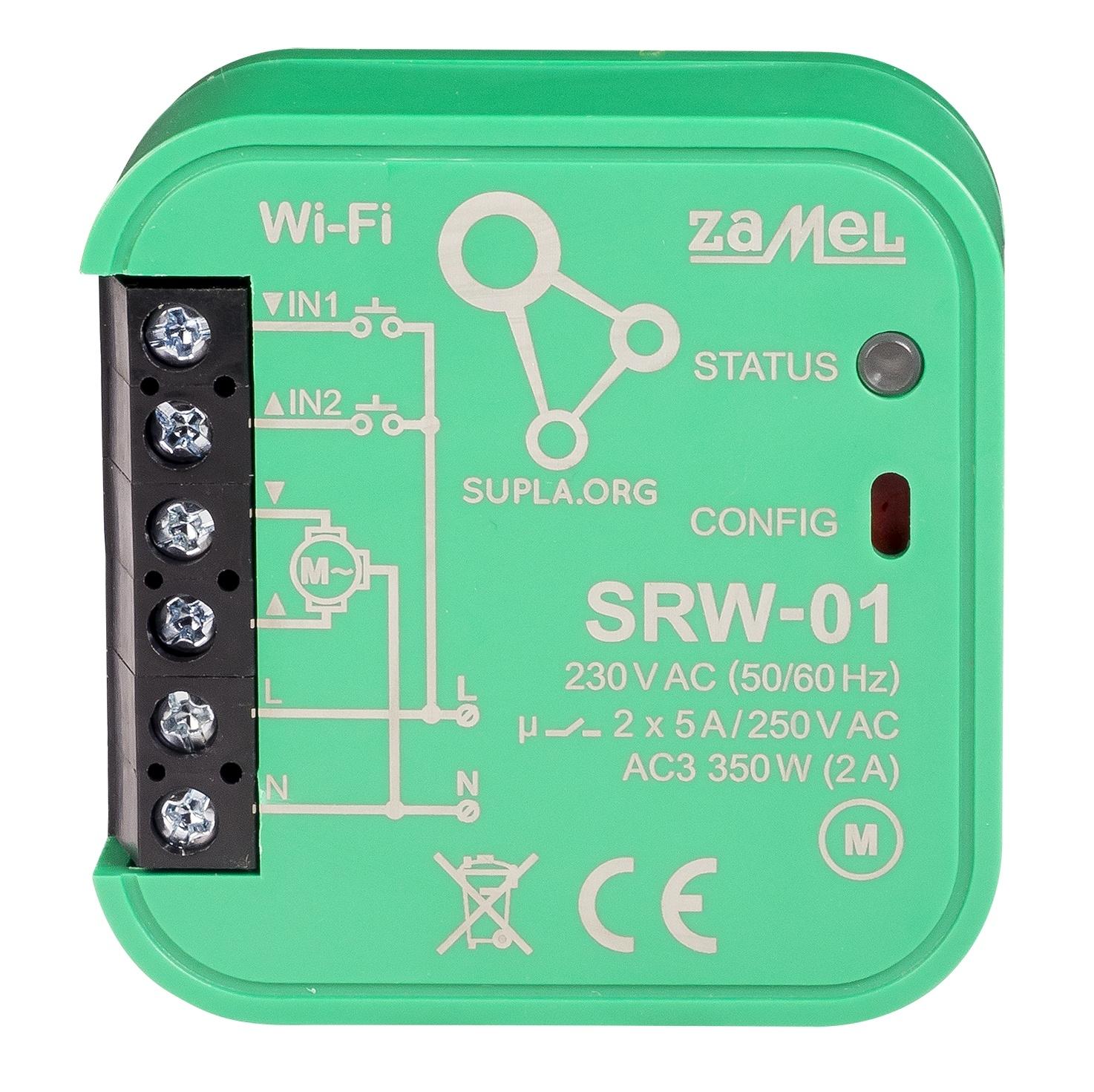 Wi-Fi ovládač rolet do krabice SRW-01