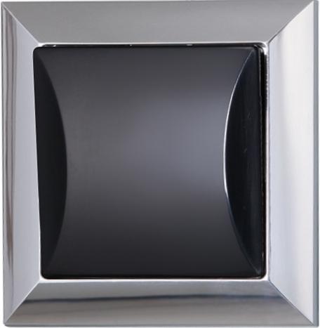 Vypínač jednopólový - chrom + černá