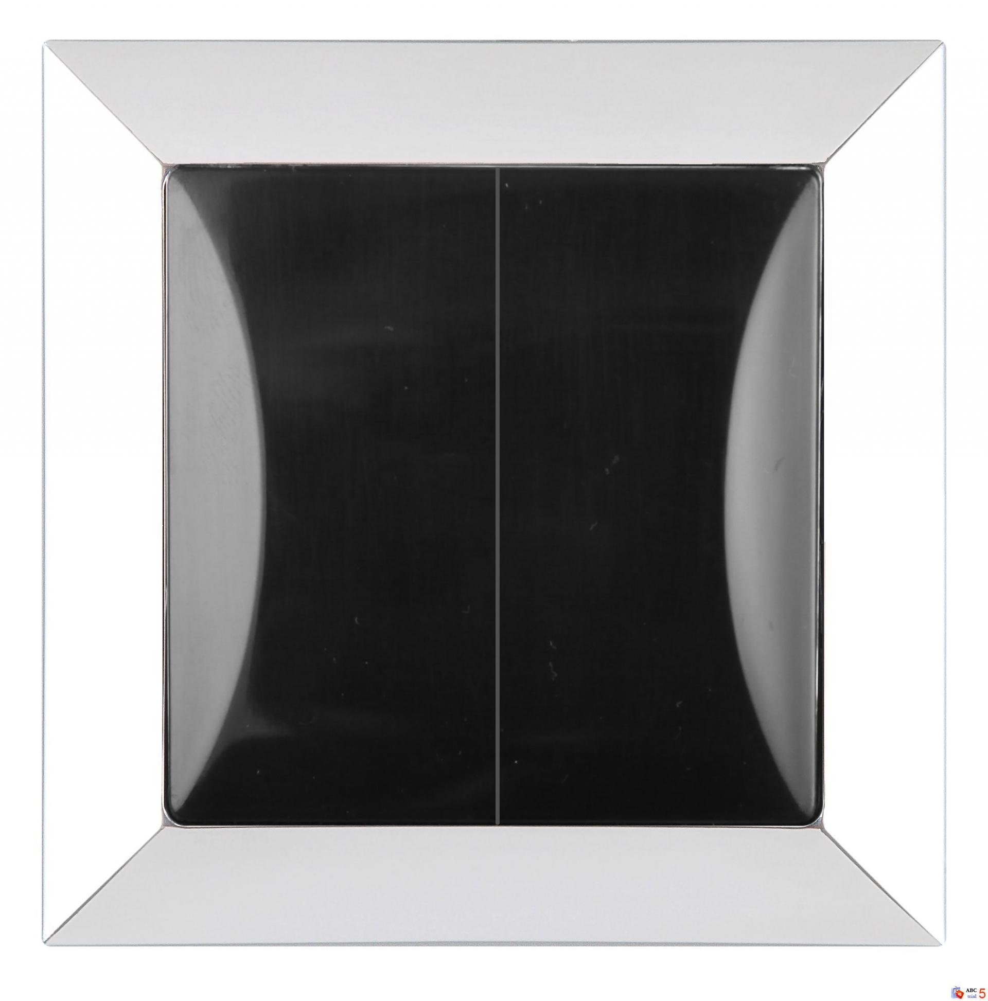 Střídavý přepínač - chrom + černá