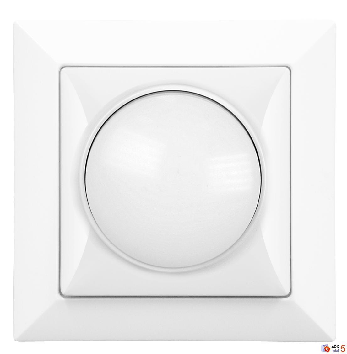 Stmívač otočný 230 V bílý